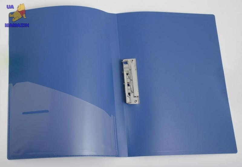Папка с боковым зажимом и карманом A4 D1804-04 синяя