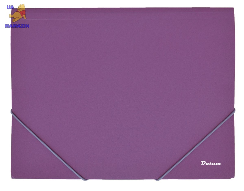Папка на резинке A4, фиолетовая