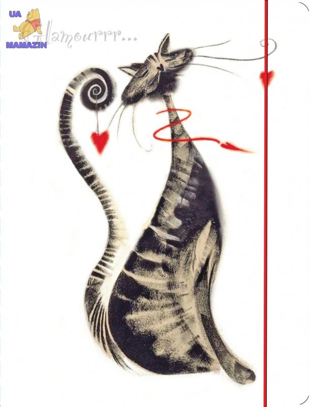 """Папка на резинке А4 """"Glamour cats"""""""