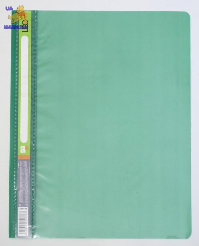 Скоросшиватель пластиковый  А4 зеленый
