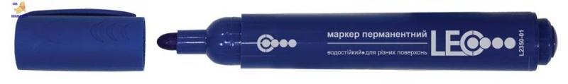 Маркер перманентный, 138мм, синий