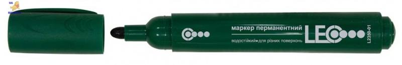Маркер перманентный, 138мм, зеленый