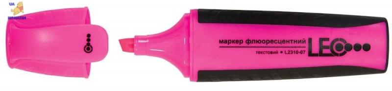 Маркер текстовый, 143мм, розовый