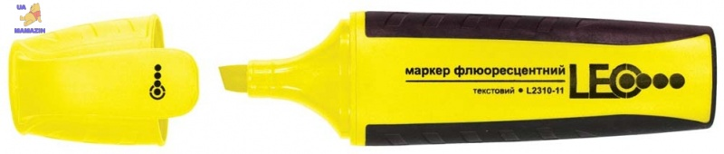 Маркер текстовый 143мм желтый