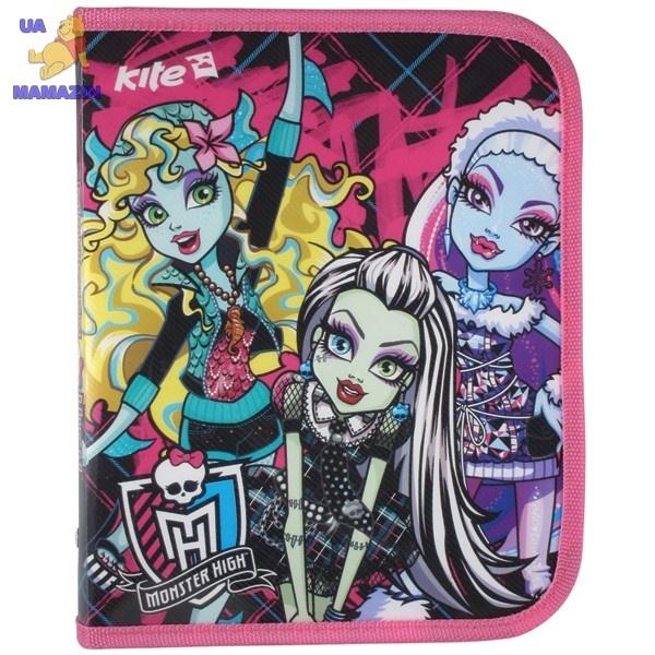 Папка объемная на молнии, В5 Monster High