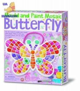 Мозаичная Бабочка из гипса ТМ 4М