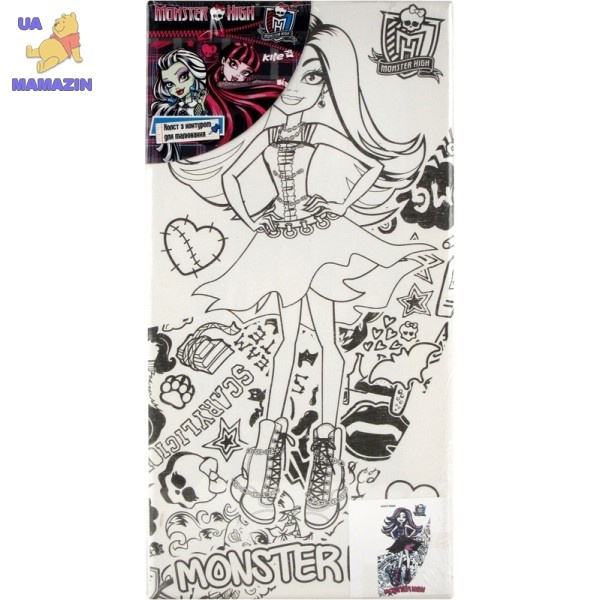 Холст с контуром 15х30 см Monster High-2