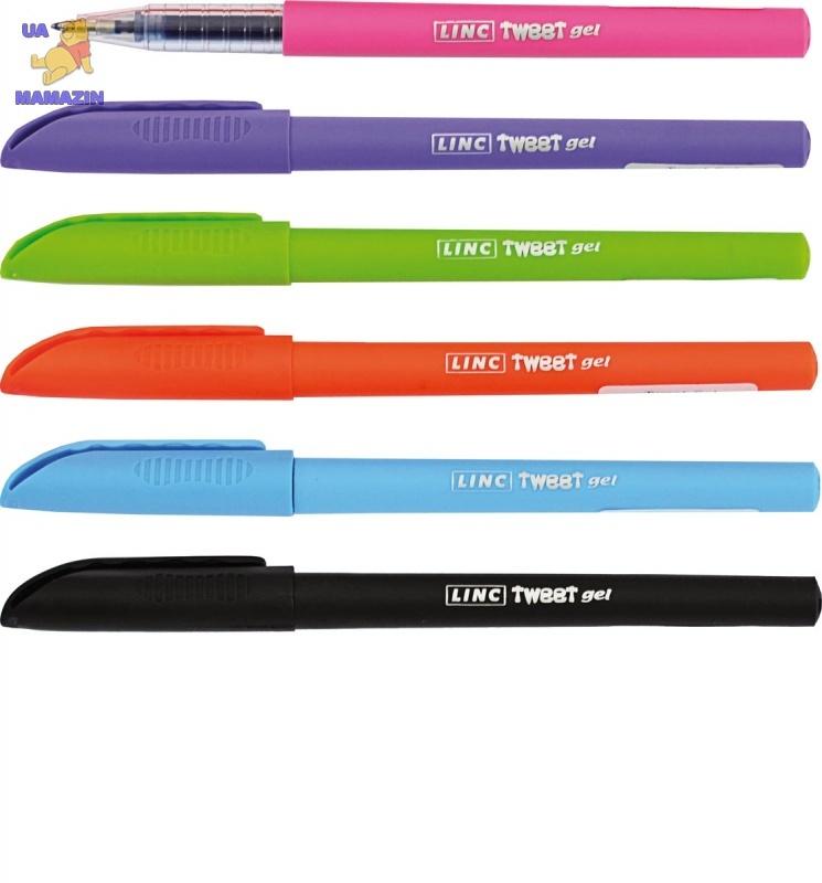 """Ручка гелевая """"Tweet Gel"""" синяя 0,7 мм """"LINC"""" (микс  цветов корпуса)"""