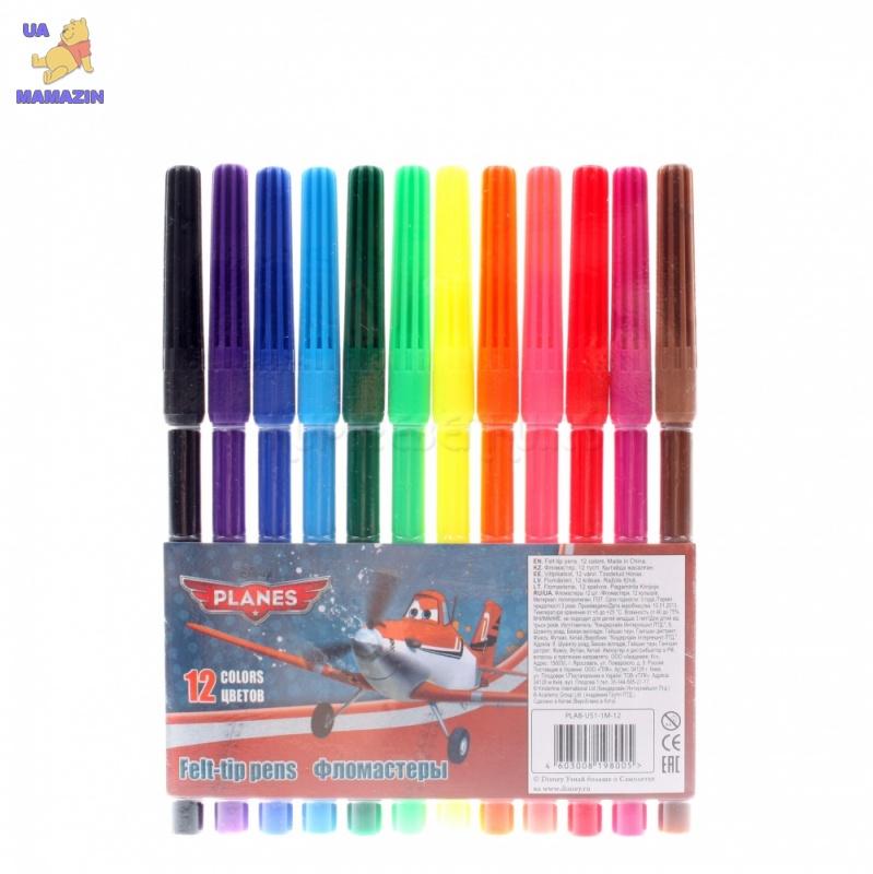 Самолеты. Набор цветных фломастеров (12 шт)