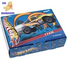 Гуашь, 12 цвететов 20мл Hot Wheels