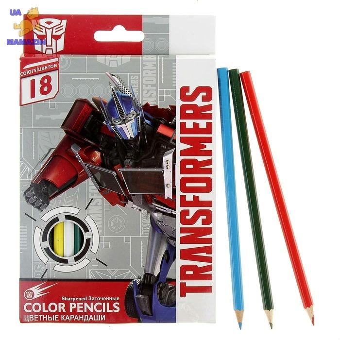 Карандаши цветные, 18 шт. Transformers
