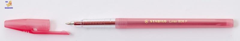 Ручка шариковая STABILO LINER , красная