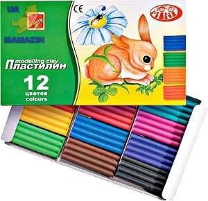 "Пластилин ""Зоо"" (""Мини"") 12 цв."