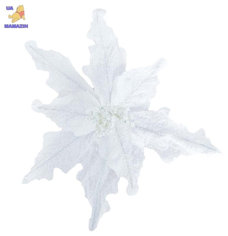 Лилия 30 см c клипом, белая