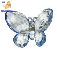 Бабочка 7 см на магните, голубая