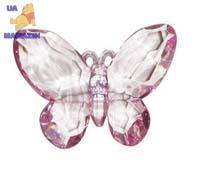 Бабочка 7 см на магните, розовая, в ПВФ-коробке