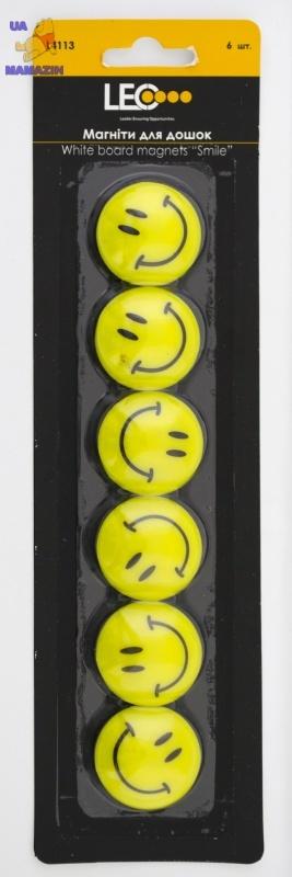 """Магниты для досок 30мм 6шт/уп """"Smile"""""""
