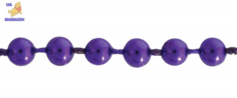 Бусы новогодние 4мм*3м, фиолетовые