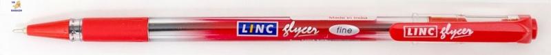 """Ручка шар/масл """"Glyser"""" красная 0,7 мм """"LINC"""""""