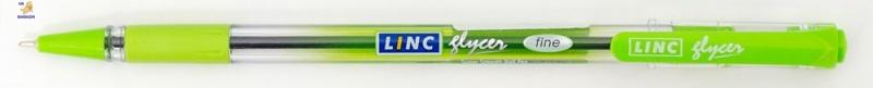 """Ручка шар/масл """"Glyser"""" салатовая 0,7 мм """"LINC"""""""