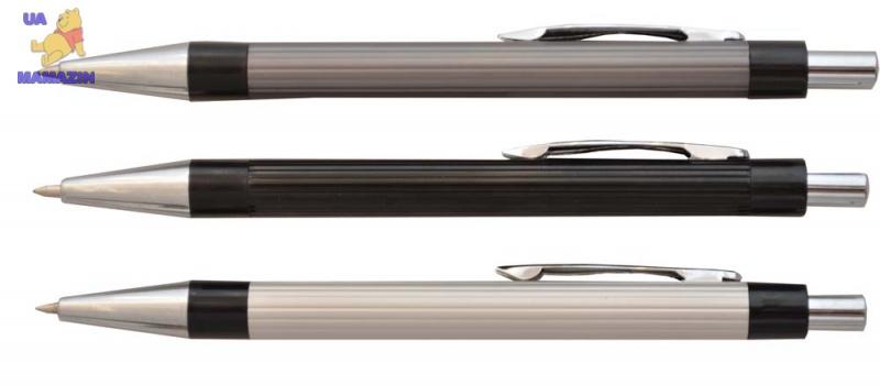 Ручка метал.черн. шар. авт. L1626-01 0,7мм