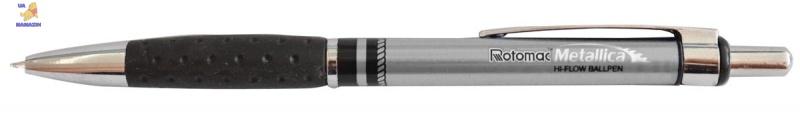 "Ручка шар/масл авт.""METALLICA"" черная 0,6 мм ""ROTOMAC"""