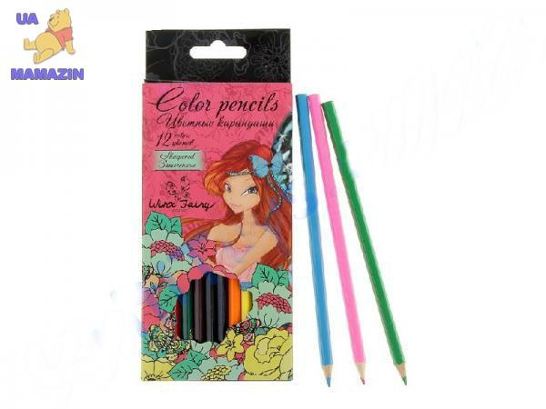 Карандаши цветные, Winx 12 цветов