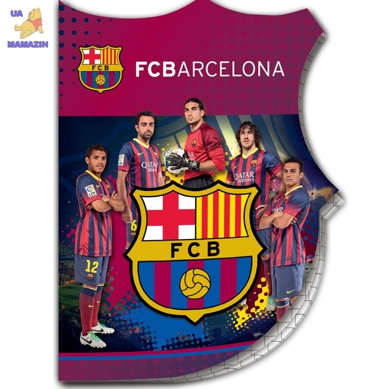 Блокнот вырубка FCBarcelona