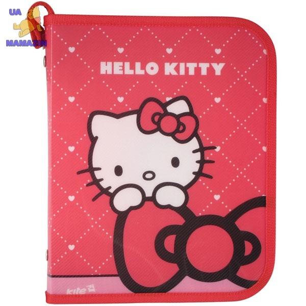 Папка объемная на молнии, В5 Hello Kitty