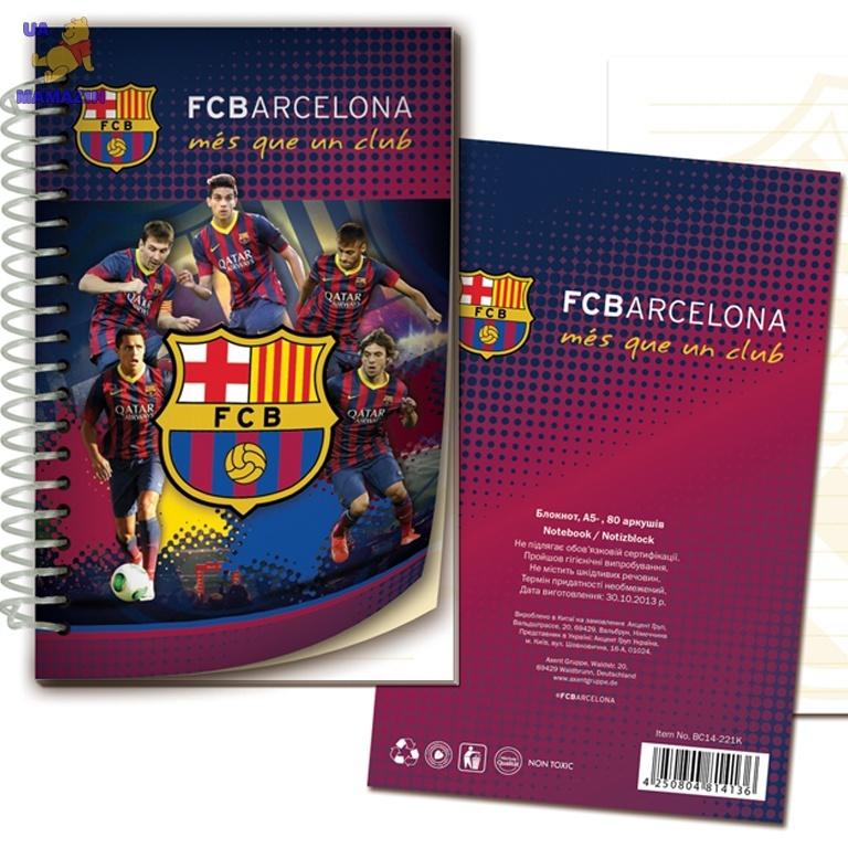 Блокнот картонная обложка, спираль Barcelona