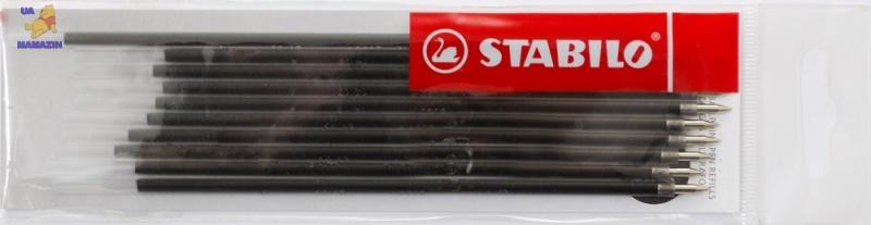 Стержень для ручки шариковой STABILO, черный - заказ по 10 шт.