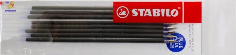 Стержень для ручки шариковой STABILO, синий - заказ по 10 шт.