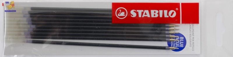 Стержень для ручки шариковой STABILO, синий - заказ по 10шт.