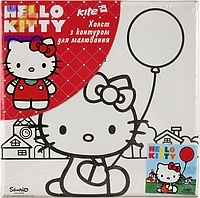 Холст с контуром 20х20 см Hello Kitty-2