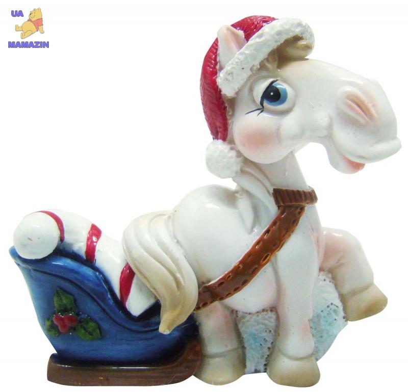 """Сувенир """"HORSE"""", 5 см, белый"""