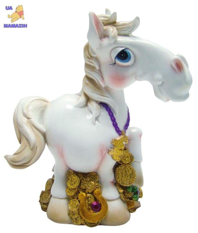 "Копилка ""HORSE"", 17 см, белая"
