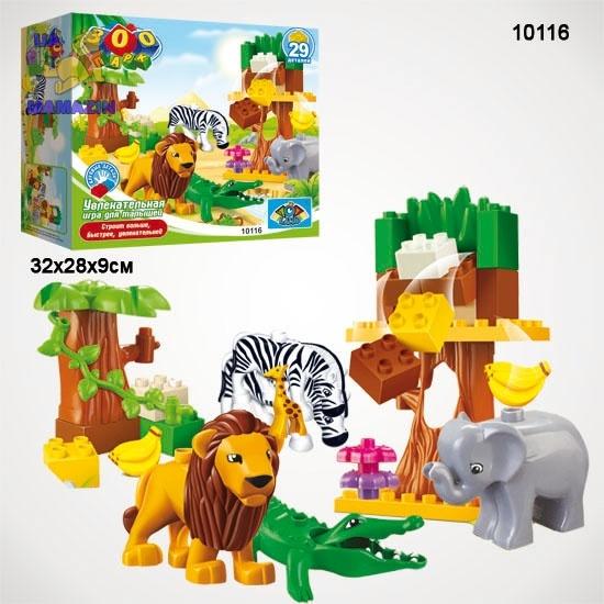 Blocks: Конструктор Зоопарк 29 деталей