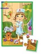 "Пазл А5 ""Девочка доктор"" ТМ Vladi Toys"