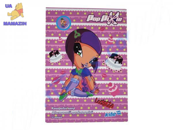 Бумага цветная двусторонняя, А4 Pop Pixie