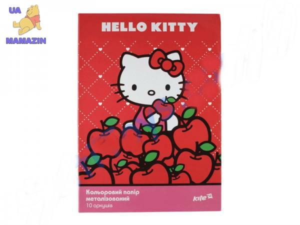 Бумага цветная металик,  А4 Hello Kitty