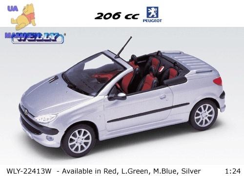 Коллекционная машинка Peugeot 206CC