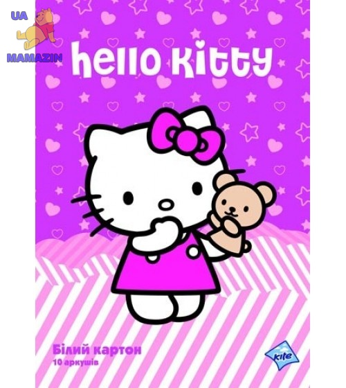 Картон белый двусторонний   A4 Hello Kitty