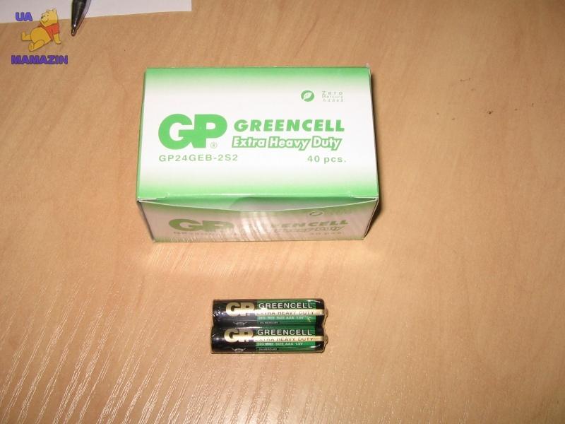 Батарейка GP 24G-S2 солевая R03, AAA, уп. 40шт.