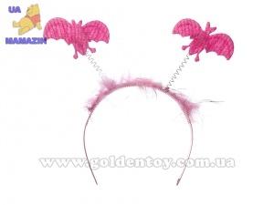Обруч с летающими мышами, розовый