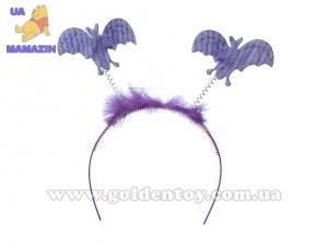 Обруч с летучими мышами, фиолетовый