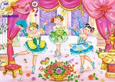 Пазлы девочки танцовщицы