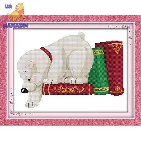 ИДЕЙКА вышивка  Белый медвежонок