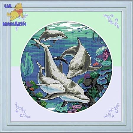 ИДЕЙКА вышивка Дельфины