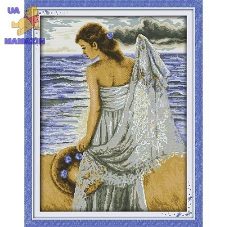 ИДЕЙКА вышивка  Девушка на побережье