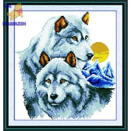 ИДЕЙКА вышивка Волки